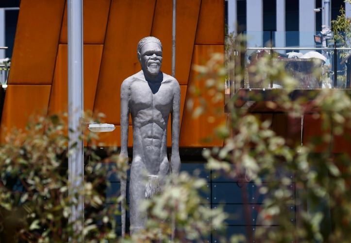 The Wirin, Continuing Spirit statue at Yagan Square. Picture: Andrew Ritchie.