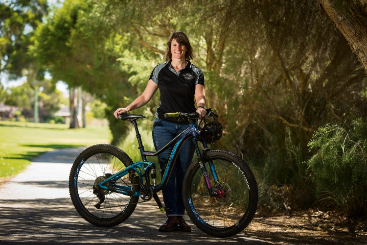West Cycle's mountain bike development manager Peta Demidenko. Picture: Will Russell.