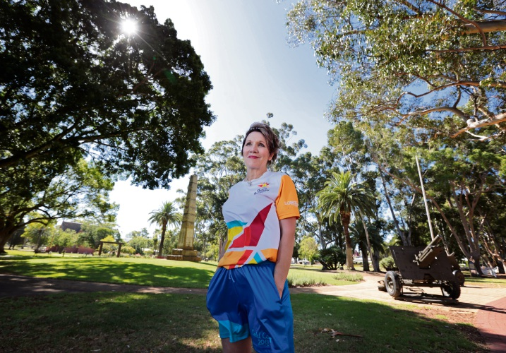 Michelle Dunlop will carry the baton through Guildford, where she grew up. Picture: David Baylis www.communitypix.com.au   d479414