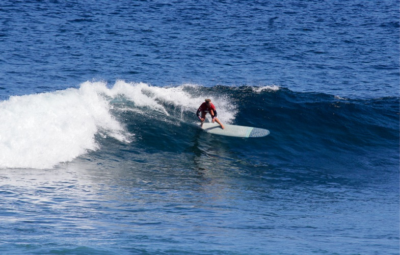 North Beach surfer Amanda Curley in action at the WA Longboard Titles in Yallingup. Picture: Justin Majeks