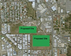 The proposed development site.