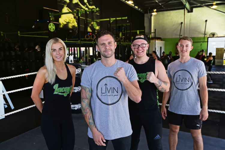 Steph Browne, Jon Ramage, Lewis Greathead and Jack Whitelaw from Lacey's Gym.  Picture: Martin Kennealey d479709