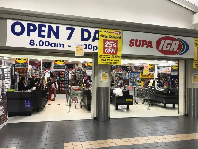 Supa IGA in Ballajura is closing down.