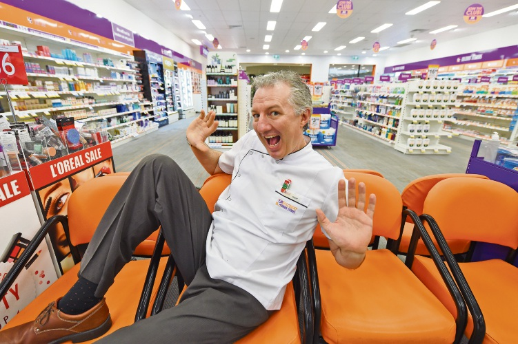 Pharmacist Phil Tomazin always tried to look on the funnier side of things. Picture: Jon Hewson.