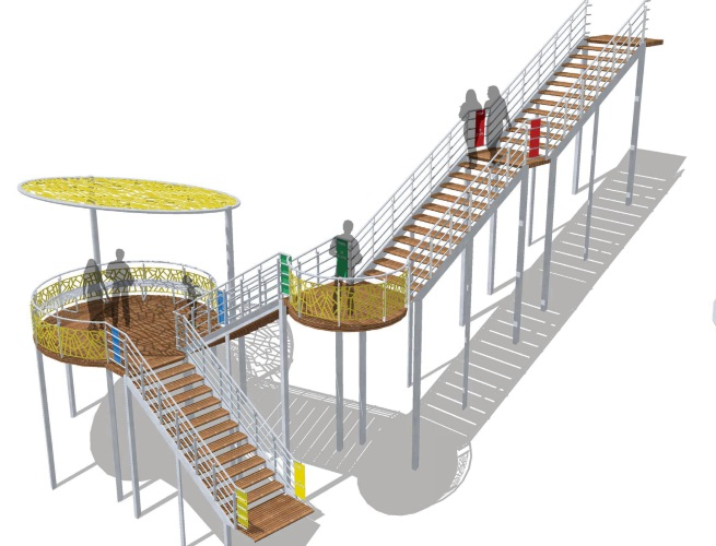 An artist impression of the fitness staircase proposed for Whitfords Nodes Park.