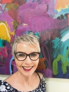 Artist Myra Mitchell.