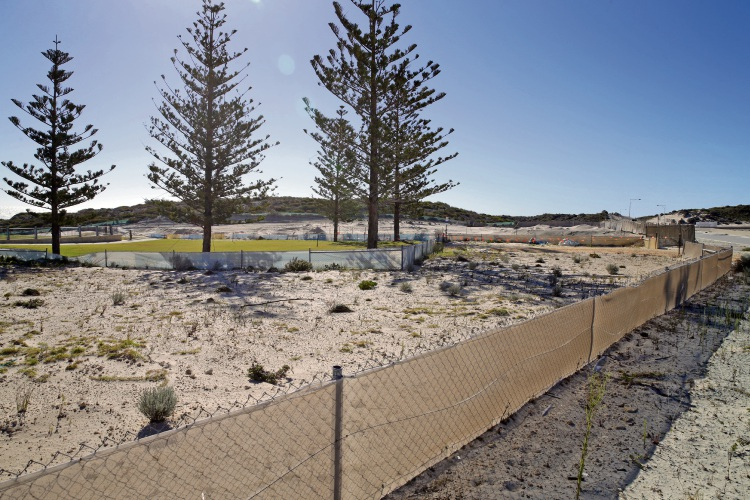 Work has started to expand Waterfront Park in Alkimos. Picture: Martin Kennealey d479763