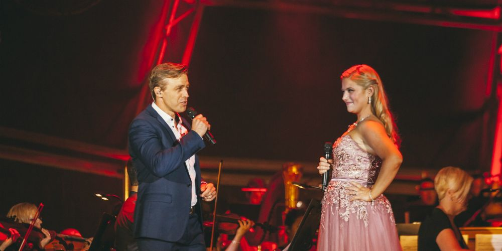 Simon Gleeson and Lucy Durack. Picture: Adam Nalapraya