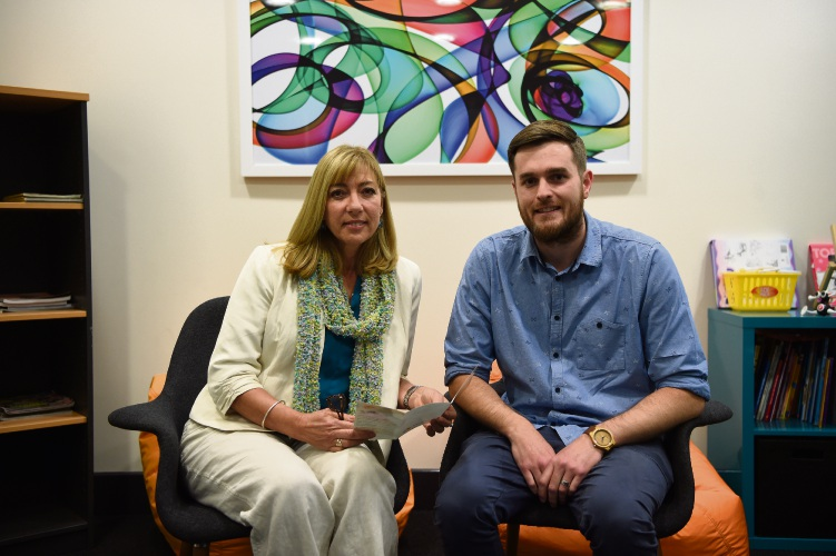 Anglicare southeast metro services manager Linda Jenkins with counsellor Matt Fromson.