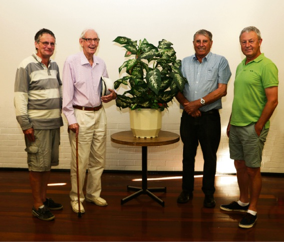 South Perth residents Mark Wimshurst, James Haywood, Como Bowling and Recreation Club chairman Andrew Coad and Alex O'Neil.