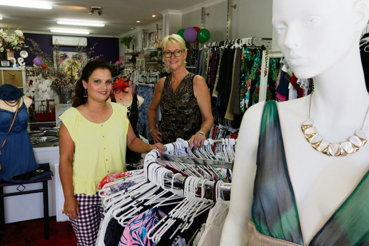 The new charitable venture is the brainchild of Margie Booth (left) and Sandy Johns (right) who met while volunteering and quickly realised they shared a passion for thrift and helping sick kids. Picture: Andrew Ritchie d479727