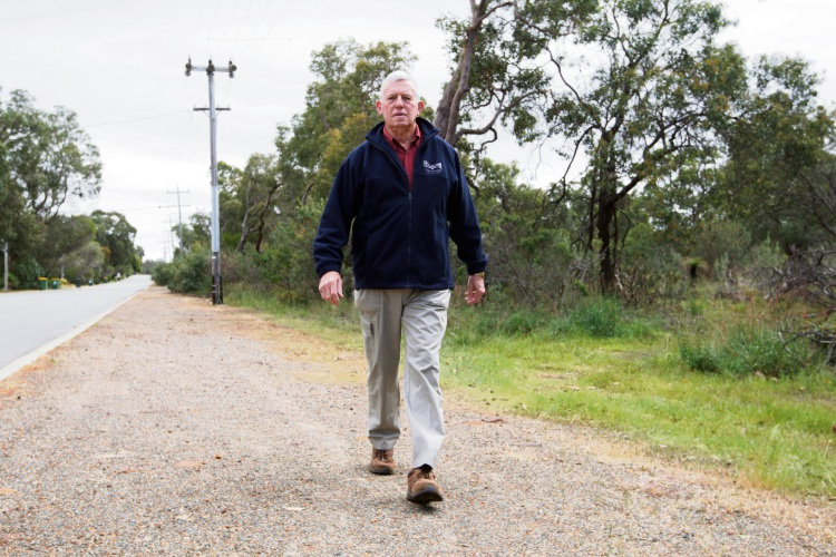 Aged care advocate Neil Pember has started the petition requesting the Minister reconsider her opposition to Wilkins Road and to support the amendment. Picture: Bruce Hunt d474480h