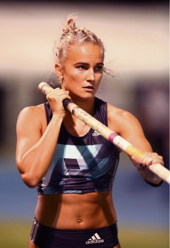 Pole vaulter Liz Parnov. Picture: Morne de Klerk/Getty Images