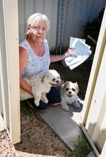 Pound of flesh... Janet Hastings says the City of Kalamunda is being cruel in its insistence that she pay the fine.