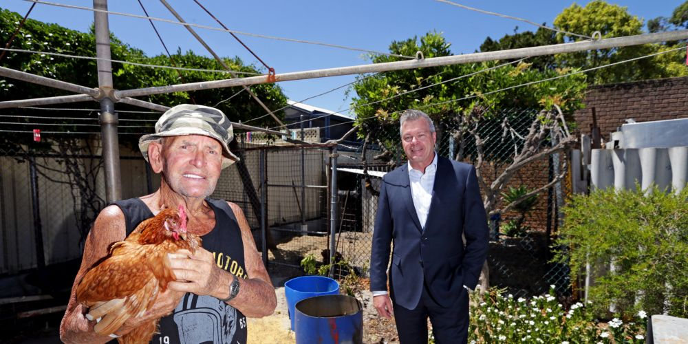 Tony Dalton (Wilson) and City of Canning councillor Patrick Hall. Picture: Martin Kennealey d479821