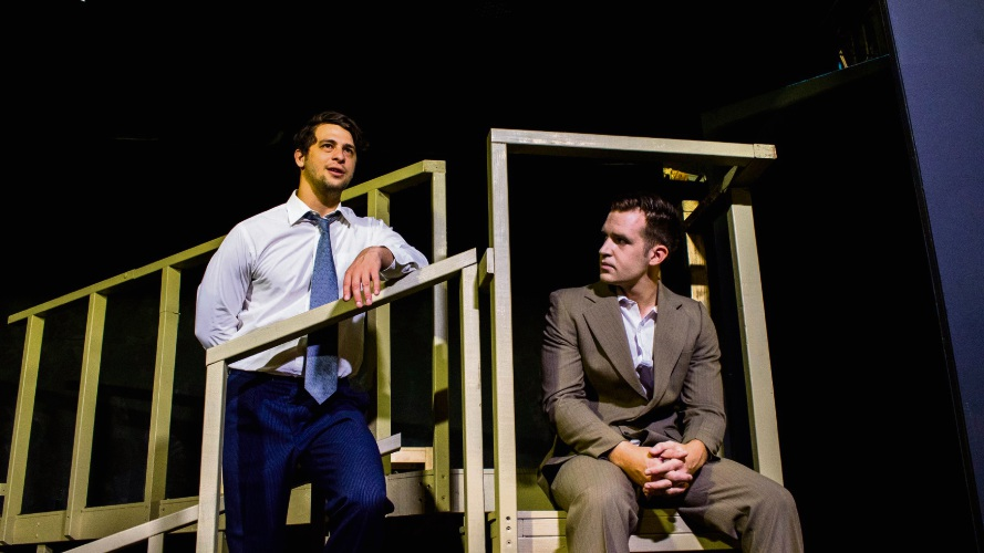Daniel Moxham as Biff and Jason Wall as Happy in Death of a Salesman. Picture: Daniel Ade