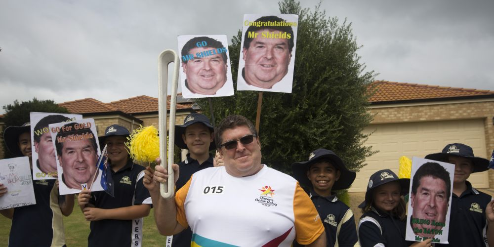 Baton bearer and Clarkson Primary School principal Anthony Shields. Picture: Supplied