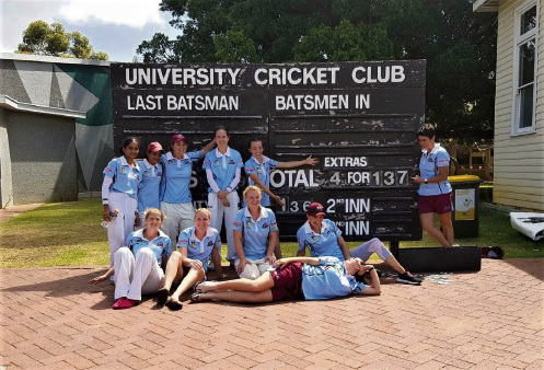 RMDCC Women's B grade team made a breakthrough win in limited overs season.