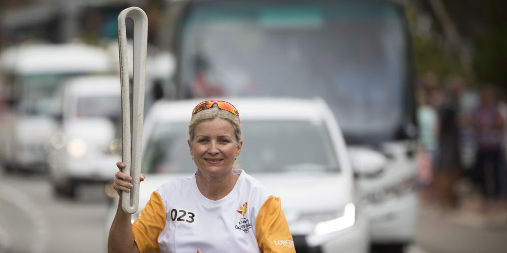 Baton bearer Candy Griffiths. Picture: Supplied