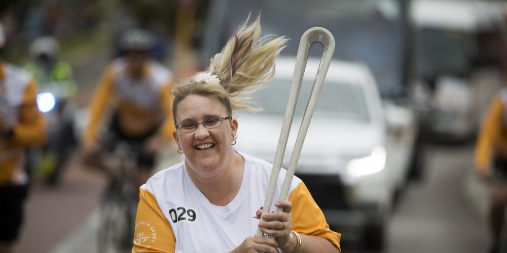 Baton bearer Delyse Clayden in Wanneroo.  Picture: Supplied