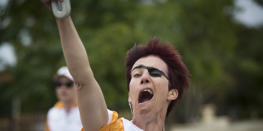 Baton bearer Nicole Lieses. Picture: Supplied