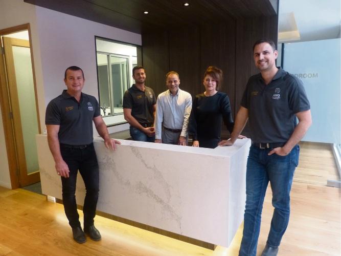 The team at AMG Home builders. From left: Rob Spadaccini, Adam Spadaccini, Tony Galante, Violetta Zirra and Matt Kriskovich.