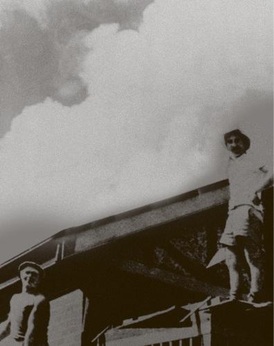 Corrado Zorzi (right) founded Zorzi Builders in 1956.