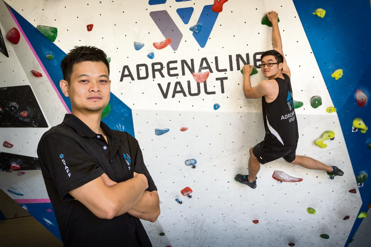 Adrenaline Vault owner Chris Chin is encouraging people to check out the facility and climb like his brother Tim.