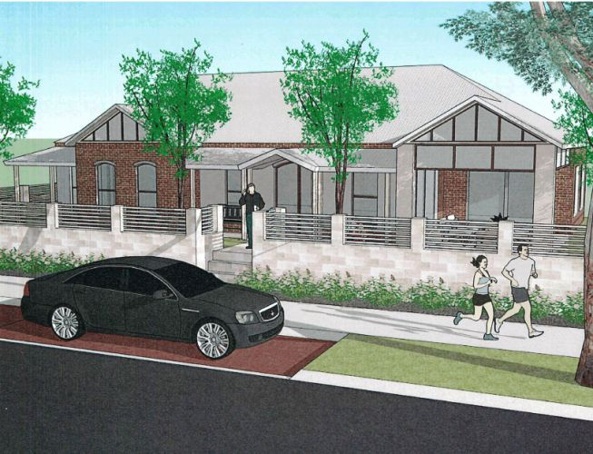 An artist's impression of proposed infill development in Landsdale.