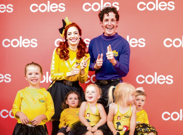 The Wiggles Emma and Lachy with young fans. Pictures: Tony McDonough/Raw Image