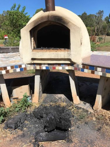 The damaged pizza oven. Picture: Supplied