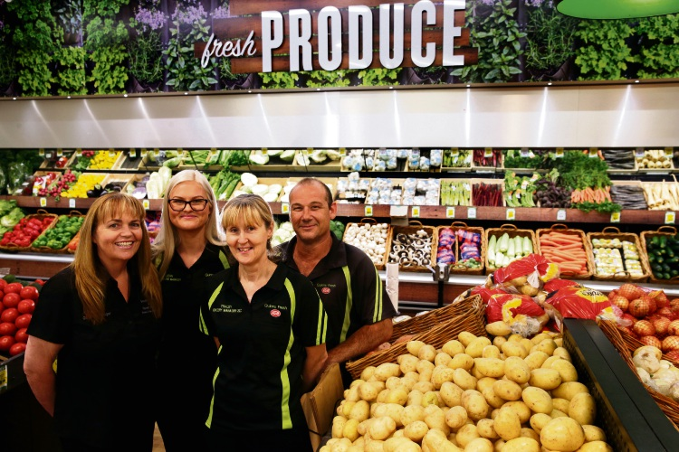 Quinns Rocks Fresh IGA staff Michelle Kelly, Leah Thompson, Tracey Murray and Dave Little. Picture: Martin Kennealey d480077