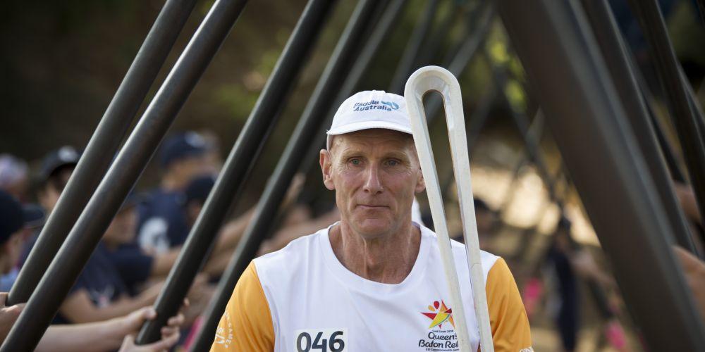 Baton bearer Ramon Andersson.