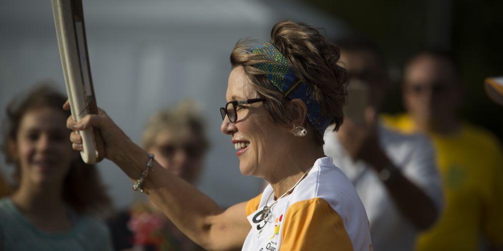 Baton bearer Michelle Dunlop.
