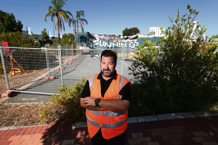 Rudy Perone (night markets manager) at the Bunnings site. Picture: Andrew Ritchie d480104