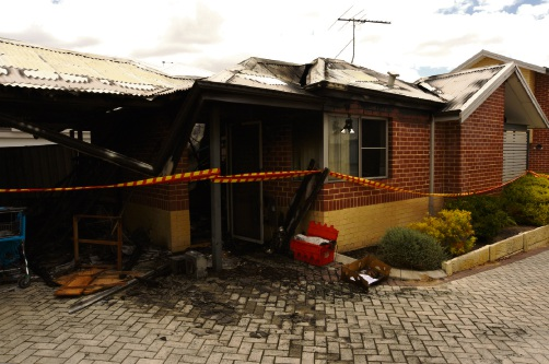 The Doubleview home after the blaze.