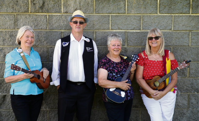 Pat Johnston, Graeme Huxford, Jenny Wigmore and Gail Harris. Picture: Martin Kennealey d479444
