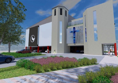 Artist impression of the church.