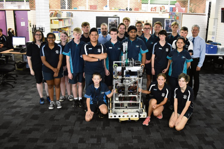 Southern River College's FIRST Robotics Competition team for 2018.