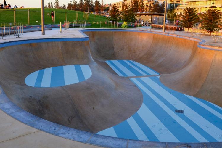 Scarborough skate bowl.
