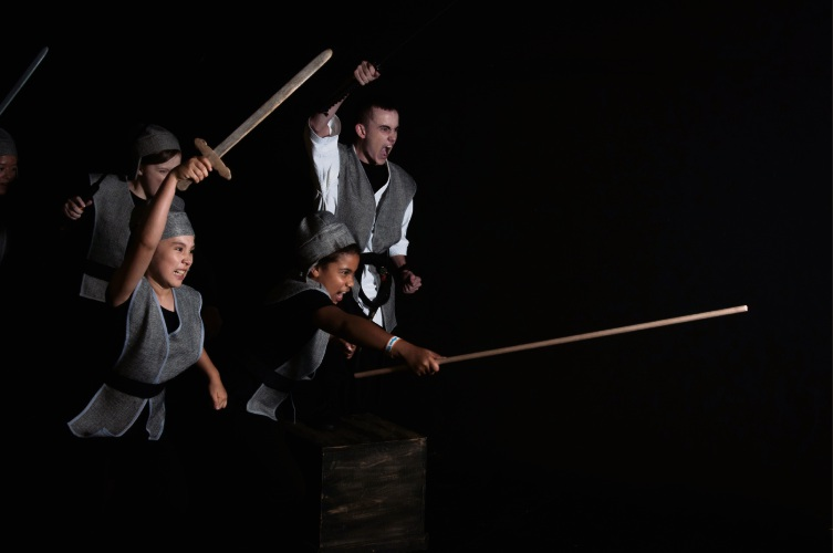 Evan Bishop as Shan-Yu (top right). Picture: Jarrad Sharman/JS Photography and Imaging