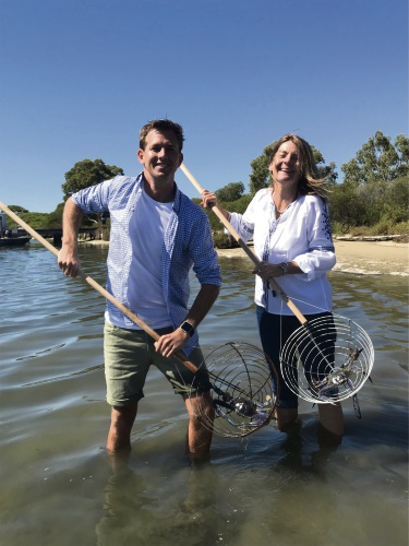 Mandurah Mayor Rhys Williams shares the joy of crabbing on the estuary in the lead up to Crab Fest