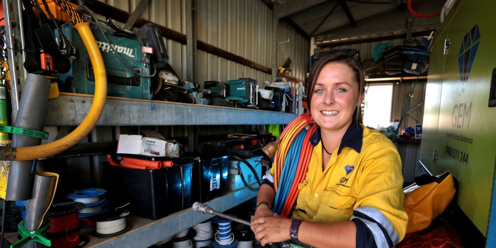 Mel Moore of Bayswater, Electrician and Director of Generation Electrical Maintenance (GEM). Picture: David Baylis d480136