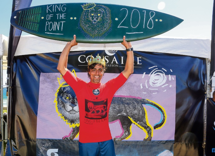 King of the Point 2018 winner Jano Belo. Picture: Surfing WA/Woolacott