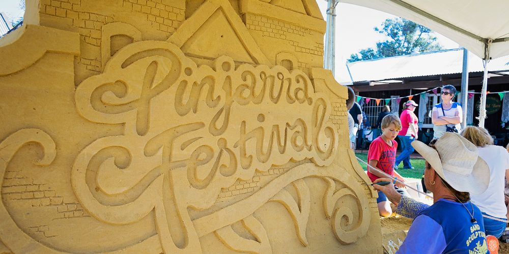 A sand sculpture at last year's Pinjarra Festival. Picture: Supplied