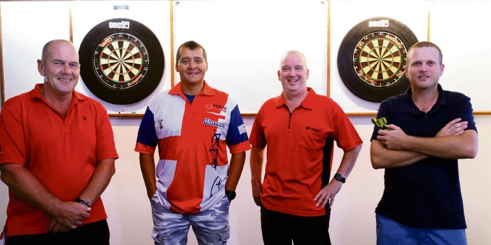 Paul White, Dave Platt, Howard Jones and Barry Gardner. Picture: Martin Kennealey    d480076