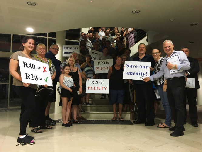About 100 Landsdale residents attended the Wanneroo council meeting on Tuesday.