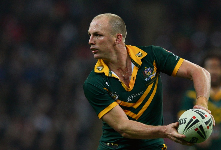 Darren Lockyer playing for Australia. Picture: Warren Little/Getty Images