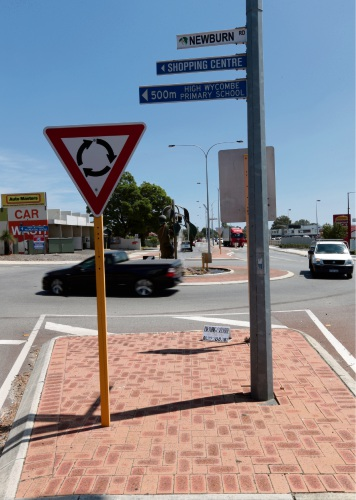 The dangerous High Wycombe intersection.