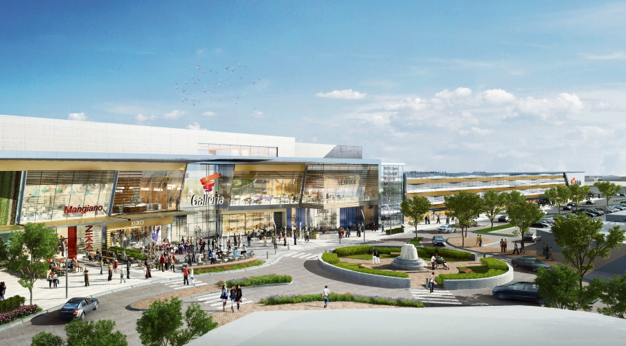 Artist impression of the Galleria redevelopment.